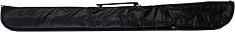 Snooker Pool Spiele Stick schützende Tragetasche für 2-teiliges Billard Queue Vinyl schwarz