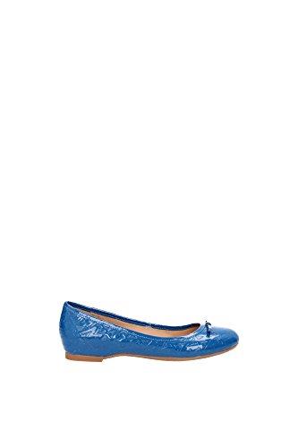 Ballerine Armani Jeans Donna Pelle Blu Ottanio A552728Z8 Blu 38EU