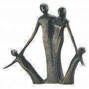 """Set: Bronzeskulptur von Kerstin Stark """" Due Piccolini """" 13 cm mit Expertise & eine Tube 2o ml. Oliven Intensivcreme"""