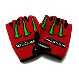 #10: Aadishwar Creation Finger less half Hand Gloves red monester