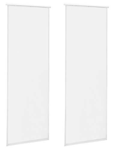 Schiebegardine Flächenvorhang Durchsichtig Transparent 60x245cm Schiebevorhang Weiss 2er Set
