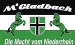 Fanfahne Gladbach Die Macht vom Niederrhein Motiv 3 Grösse 1,50x0,90