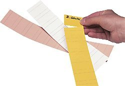 Ultradex - Tira recortable para clasificar documentos (4 cm, 90 unidades), color blanco