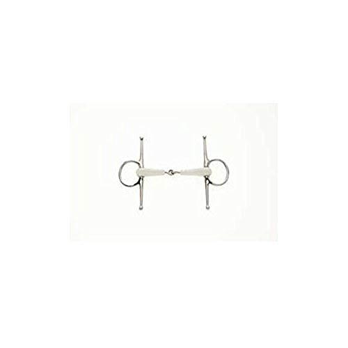 Lorina Flexi einfach gebrochene Knebeltrense (5in / 125mm) (Silber/Weiß)