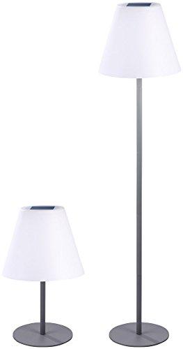 Lunartec Kabellose Stehlampe: Kabellose Solar-LED-Tisch- & Stehleuchte, 1,6 W, 50 lm, IP44 (LED Stehlampe kabellos)