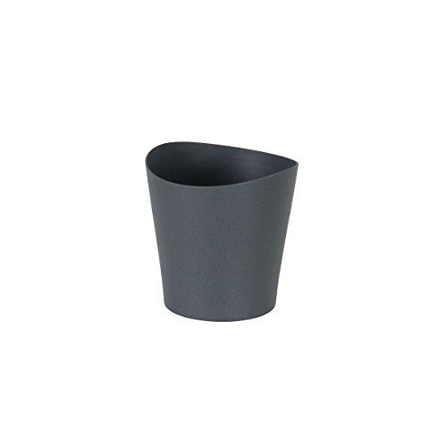 vaso per orchidea greemotion in nero, vaso per fiori piccolo, fioriera in plastica per orchidee come vaso per davanzale