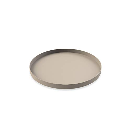 Cooee Design Tray Tablett, Edelstahl, Sand, 30 cm Design Tray