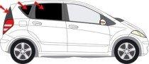 Sole protezione privacy, Mercedes A W169Costruire 2004-2012Art. 269955d-5