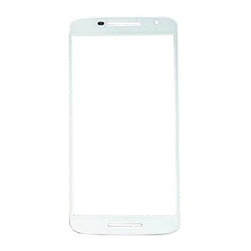 Front Replacement LCD touch screen glass lens for Moto X Play White
