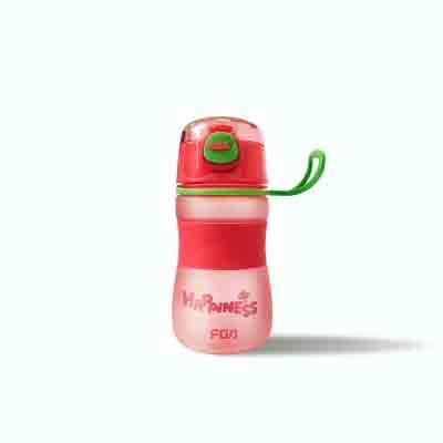 Tasse en Plastique Portable Hommes et Femmes Voyage Coupe Sport Eau-Rouge 380ml