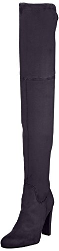 Buffalo London Damen 2861 Micro Strech Stiefel, Grau (Antracite 01), 40 EU