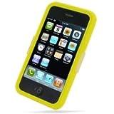 PDair iPhone 3G 3Gs Couverture de Silicone (Yellow), Étui de Protection Souple à 360 ° pour Le Corps Entier, Slim Fit Ultra Mince Cas, Luxe Etui en Silicone de Luxe pour Apple iPhone 3G 3Gs