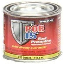 POR 15 45006 - 1 4oz Can Gloss Black Rust Preventative Paint - Paint Over Rust! by POR-15