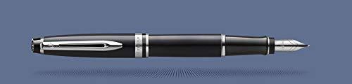 Waterman Expert black C.18K M - Penna stilografica, colore: Blu