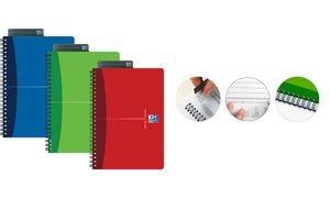 Oxford 100105117 Office Spiralbuch DIN A4 kariert 50 Blatt, Farblich Sortiert