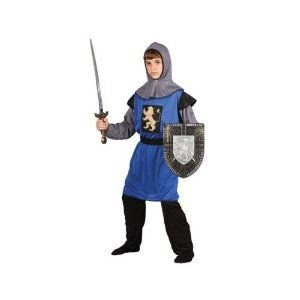 Boys Knight Of The Realm Medieval Crusader Halloween Party Fancy Dress Costume