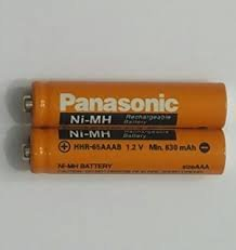 Panasonic rechargable ni-mh aaa rechargable battery for cordless phone and toys (pack of 2 pcs)  available at amazon for Rs.398