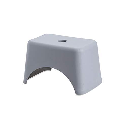 Anyer Küchen-Schritt-Schemel, Plastikfußschemel-Stapel-Beleg-beständiges Schritt-Sitzbadezimmer wasserdicht für Erwachsenen oder Kind,Gray,31 * 20 * 20cm