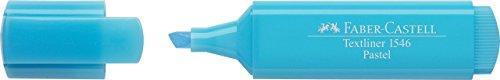 Faber-Castell 154657-Scatola con 10Evidenziatori Textliner 1546Pastello, Colore: Blu Pastello