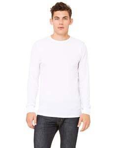 Mens Long Sleeve Thermal Tee (Men's Thermal Long-Sleeve T-Shirt WHITE/ GREY L)