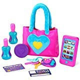 JOYIN Mein Erste Wahl Kinder Handtasche Rollenspiel Spielzeugset für Mädchen, Schminktasche Set einschließlich Smartphone (ohne Akku), Schlüsseln und Makeup Zubehör für Spaß und Lernen
