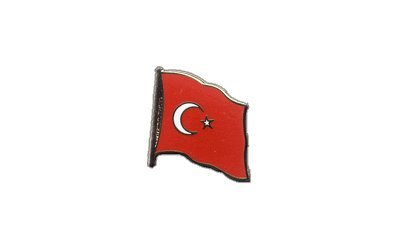 Flaggen-Pin/Anstecker Türkei vergoldet