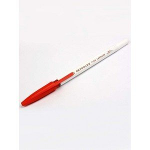 set-of-10-reynolds-045-fine-carbure-non-smudge-ball-point-pens-red