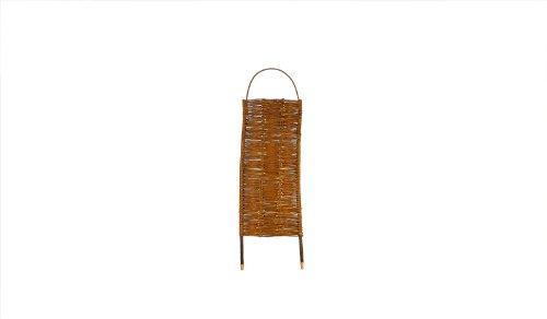 5 x Steck-Paravent Weide mit Steckpfähle im Maß 56 x 130 auf 156 cm (Breite x Höhe) als Sichtschutz geflochten aus Weidenruten/Weide - geölt als Angebots-Set