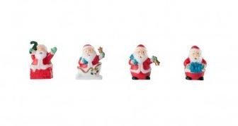 Mignon père Noël gâteau de Noël avec 4motifs différents En Plastique À