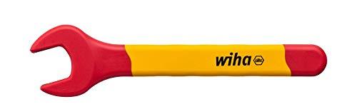 Wiha 43026 isoliert Einmaul-Gabelschlüssel rot gelb, Außensechskant 17