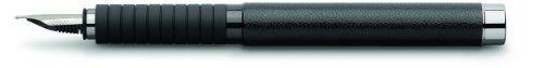 Faber-Castell Basic – Pluma estilográfica de trazo medio, negro