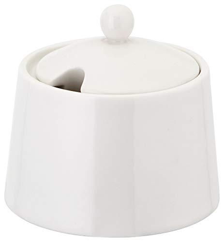 Judge Porcelain Porzellan-Set mit Milchkännchen (175 ml) und Zuckerdose (275 ml), Keramik, weiß 275ml Sugar Bowl