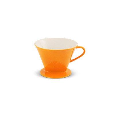 Kaffeefilter, Friesland, 1x4 / 1-Loch, safran gelb