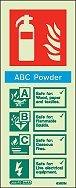 jalite nachleuchtend ABC Pulver Feuerlöscher Hinweisschild