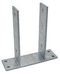 MM Spezial Pfostenträger, Stainless Steel, Silber