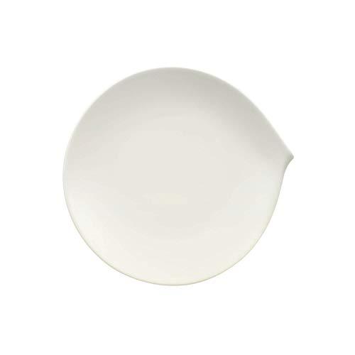 Villeroy & Boch Flow Assiette petit-déjeuner, 23 x 22 cm, Porcelaine Premium, Blanc