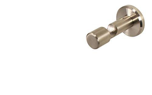 Edelstahl Wandhalter Deckenhalter mit Schraubkappe für 16 mm Gardinenstangen 4,5 cm
