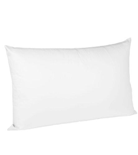 fleuresse Kissenbezug colours Satin Uni 9100-1000, Mako Satin in 40x60 cm, Farbe Weiß, 100% Baumwolle, mit Reißverschluss (- Reißverschluss-band)