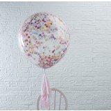 Ginger Ray Hochzeit Geburtstag XXL Luftballon Konfetti 3 Stck. bunt