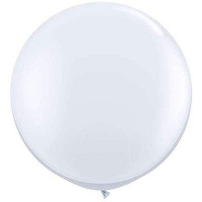 Riesenluftballon 55cm Durchmesser mit Spezialverschluss weiß