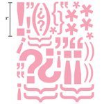 Advantus Corporation Heidi Swapp Glossy Chipboard Shapes 55/Package, Exclamations Pink