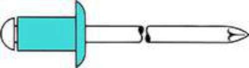 TPF COMERCIAL 0007693354812  - PACK DE 500 REMACHES CIEGOS (CABEZA REDONDA  4 8 X 12 MM)