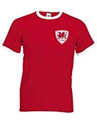 Retro Wales Football Shirt TShirt Euro 2016 Old fashioned Welsh football shirt Cymru  XXL