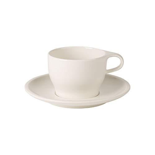 Villeroy & Boch Coffee Passion Set café au lait, 2 pièces, Porcelaine Premium, Blanc