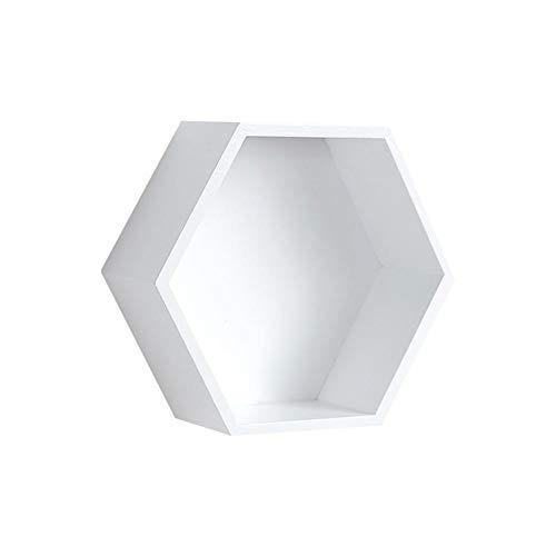 LiféUP Estante de pared flotante Creativo geométrico hexagonal organizador de almacenamiento de...