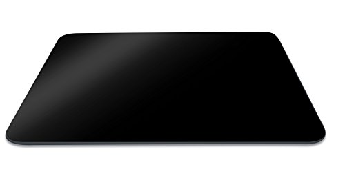 Pebbly 99-14RTBLA Multifunktions-Brett aus Glas, rechteckig, Hartglas, schwarz, 30x 40cm
