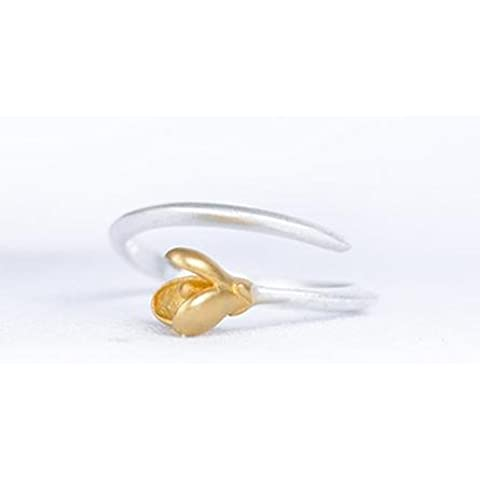 SUYA Fatto a mano, lucidato a mano in argento sterling anelli floriation gardenie, gioielli di stile cinese classico retrò, regalo alla moda