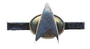 Preisvergleich Produktbild Krawattenklammer Star Trek Next Generation Communicator Logo