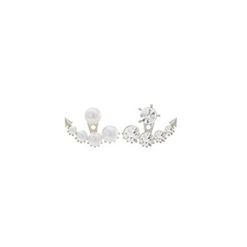 LUFA Überzogene Perlen Ohrringe für Frauen runde weiße synthetische Perlen fallende Ohrringe