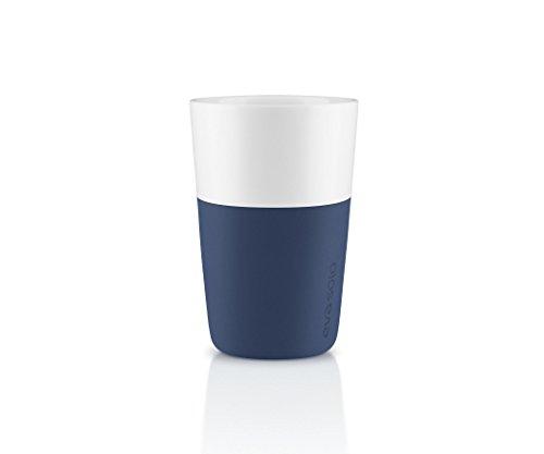 Eva Solo 5706631162890 Latte-Becher, Silikonschale, 360 ml, Porzellan, Navy blau, 8,5 x 8,5 x 12,5...
